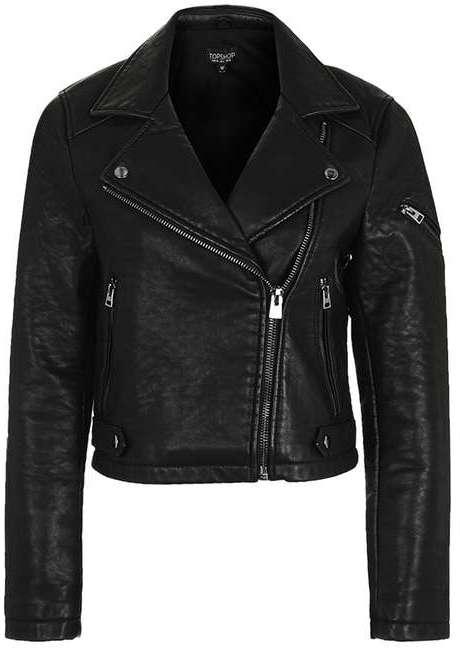 TopshopTopshop Faux leather biker jacket