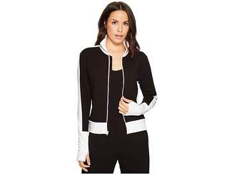 Norma Kamali KAMALIKULTURE by Side Stripe Turtle Jacket Women's Coat