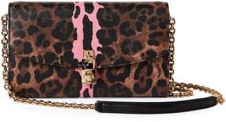 Dolce & Gabbana Leopard Print & Pink Clutch