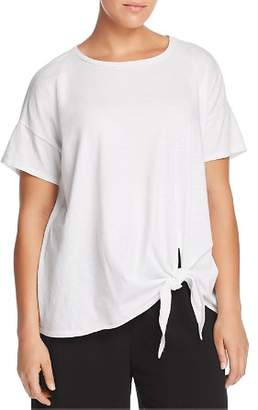 Eileen Fisher Plus Organic Cotton Tie-Front Tee