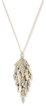 Alexis Bittar Spiked Lattice Pine Cone Pendant Necklace $295 thestylecure.com