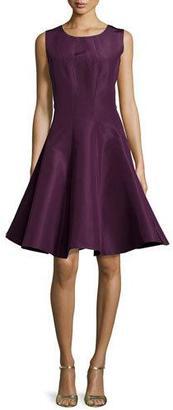Zac Posen Silk Round Neck Party Dress, Plum $1,990 thestylecure.com
