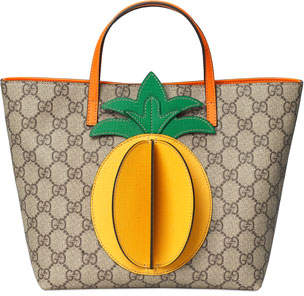 Gucci Kid's GG Supreme 3D Pineapple Tote Bag