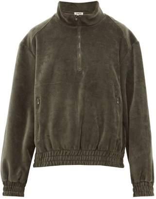Phipps - Trekking Half Zip Cotton Velour Sweatshirt - Womens - Khaki