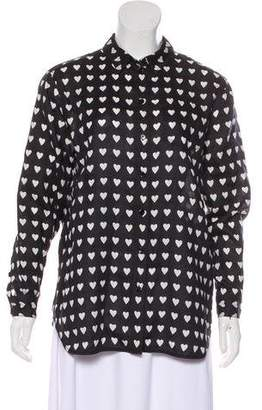 Burberry Printed Button-Up Top