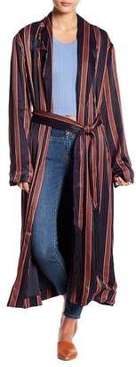 Free People Atrium Striped Duster Jacket