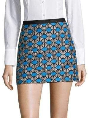 Milly Embroidered Mini Skirt