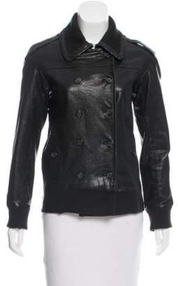 Elizabeth and James Leather Long Sleeve Jacket