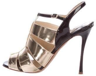 Nicholas Kirkwood Patent Leather Cage Sandals