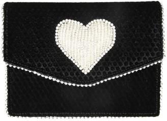 Les Petits Joueurs Les Petites Joueurs lulu Disco Heart Shoulder In Black Velvet