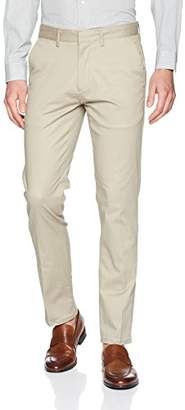 Calvin Klein Men's Slim Fit Flat Front Sateen Trouser Pant