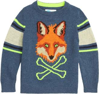 Boden Mini Intarsia Fox Sweater