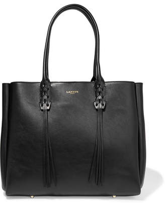 Lanvin - The Shopper Small Leather Tote - Black $1,550 thestylecure.com