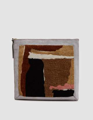 Rachel Comey Embroidered Clutch in Beige