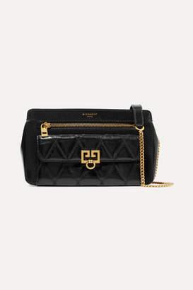 Givenchy Pocket Quilted Leather Shoulder Bag - Black