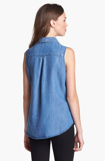 KUT from the Kloth Sleeveless Chambray Shirt