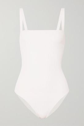 Faithfull The Brand Phoebe Ribbed Swimsuit - White