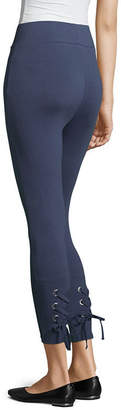 MIXIT Mixit Lace Up Calf Capri Leggings