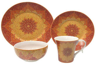 222 Fifth Kashan 16 Piece Dinnerware Set, Service for 4