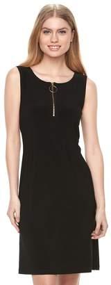 MSK Women's Zipper Shift Dress