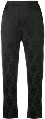 Ann Demeulemeester floral embroidered trousers