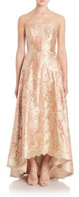 Theia Strapless Floral Lace Ball Gown $1,495 thestylecure.com