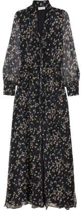Paul & Joe - Claudia Floral-print Silk-chiffon Maxi Dress - Navy $720 thestylecure.com