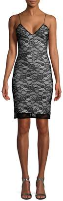 Alice + Olivia Women's Stila Fitted Lace Mini Dress