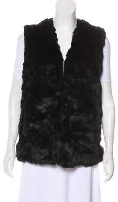 Adrienne Landau Faux-Fur V-Neck Vest