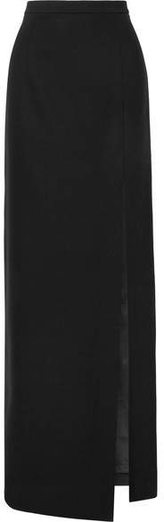 Michael Kors Collection - Wool-blend Crepe Maxi Skirt - Black