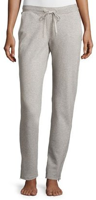 Hanro French Terry Cloth Lounge Pants, Light Gray Melange $218 thestylecure.com