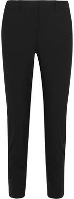 Theory - Testra Stretch-wool Straight-leg Pants - Black $245 thestylecure.com