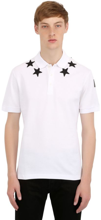 Cuban Star Patches Piqué Polo Shirt