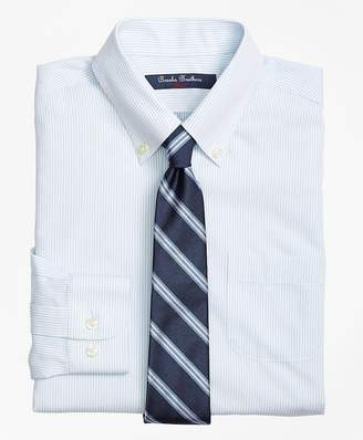 Brooks Brothers (ブルックス ブラザーズ) - BOYS ノンアイロン ピンポイントオックスフォード ミニストライプ ボタンダウンシャツ