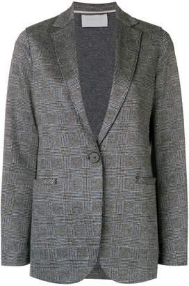 Harris Wharf London checked single-breasted blazer