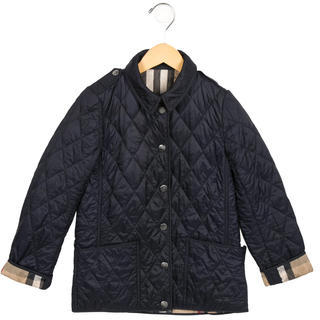Burberry Boys' Lightweight Quilted Jacket $125 thestylecure.com