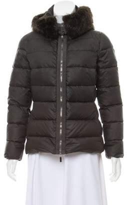 Moncler Fabreges Fur-Trimmed Jacket