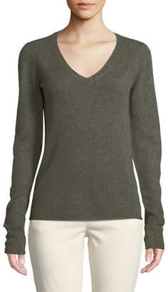 ATM Anthony Thomas Melillo Cashmere V-Neck Long-Sleeve Sweater