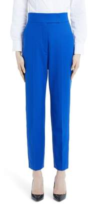 Sara Battaglia Stretch Wool Straight Leg Pants