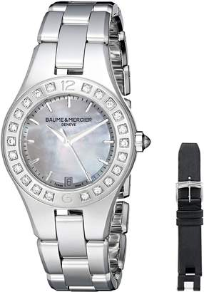 Baume & Mercier Women's BMMOA10072 Linea Analog Display Quartz Silver Watch