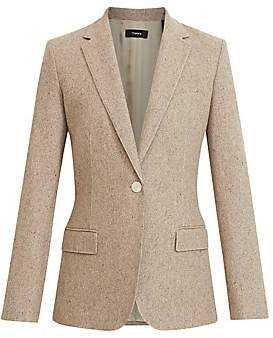 Theory Women's Recycled Wool-Blend One-Button Blazer