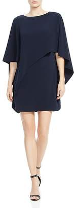 Halston Cape Sleeve Capelet Dress