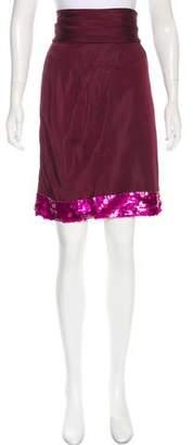 Louis Vuitton Embellished Silk Skirt