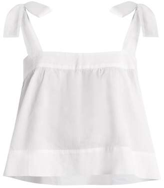 Wiggy Kit - Bow Detail Cotton Cami Top - Womens - White
