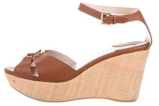 Salvatore Ferragamo Platform Leather Wedges