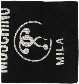 Moschino double question mark scarf