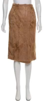 Gianfranco Ferre Camel Pony Hair Skirt w/ Tags
