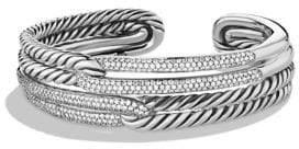 David Yurman Labyrinth Double-Loop Cuff with Diamonds