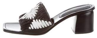 Sigerson Morrison Raffia Mid-Heel Sandals