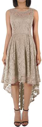 H HIAMIGOS Women's Vintage Floral Lace Cocktail Formal Party High Low Dress S